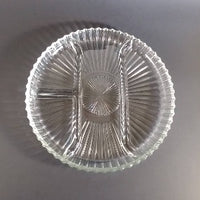 Depression Glass Divided Round Serving Platter