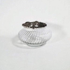 Glass Potpourri Bowl with Pewter Lid