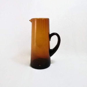 Amber Glass Cocktail Pitcher