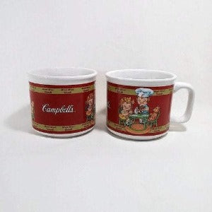 Campbell's Soup Mugs, Set of 2