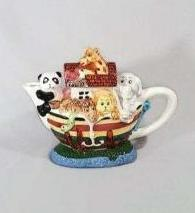 Noah's Ark Ceramic Tea Pot