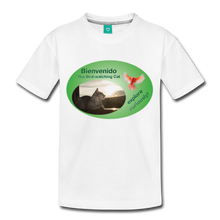Load image into Gallery viewer, Bienvenido the Bird-watching Cat t-shirt (kids) - white