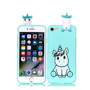 detailing d9602 5870c DAMONDY iPhone 8 Case,iPhone 7 Case, Cute 3D Cartoon Animals Pattern Soft  Gel Silicone Slim Design Rubber Thin Protective Cover Phone Case for Apple  ...