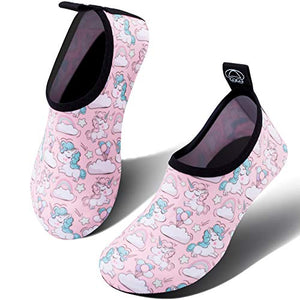 e0792dc27132 Pink Water Shoes for Kids with Baby Unicorn Patterns – Unicornaval™