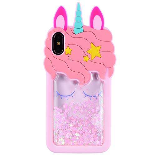 vari colori a6921 c1ee8 Quicksand Unicorn Case for iPhone 6 6S,Soft Cute Silicone 3D Cartoon Animal  Cover, Shockproof Vivid Color Cases,Kids Girls Bling Glitter Rubber Kawaii  ...