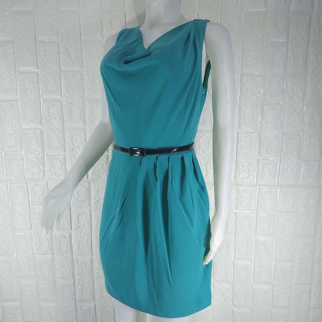 Oasis Green Sleeveless Formal Dress - okriks-market