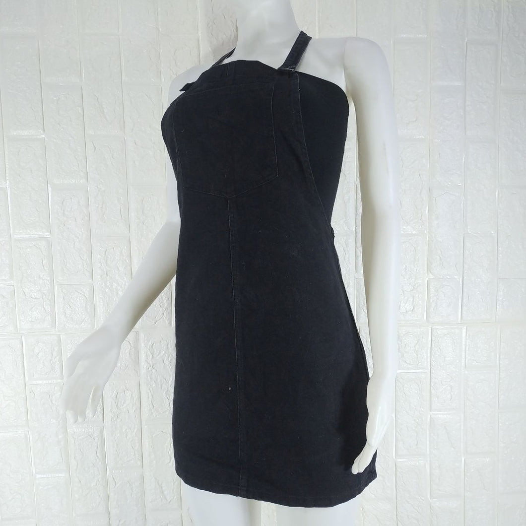 New Look Black Denim Pinafore - okriks-market