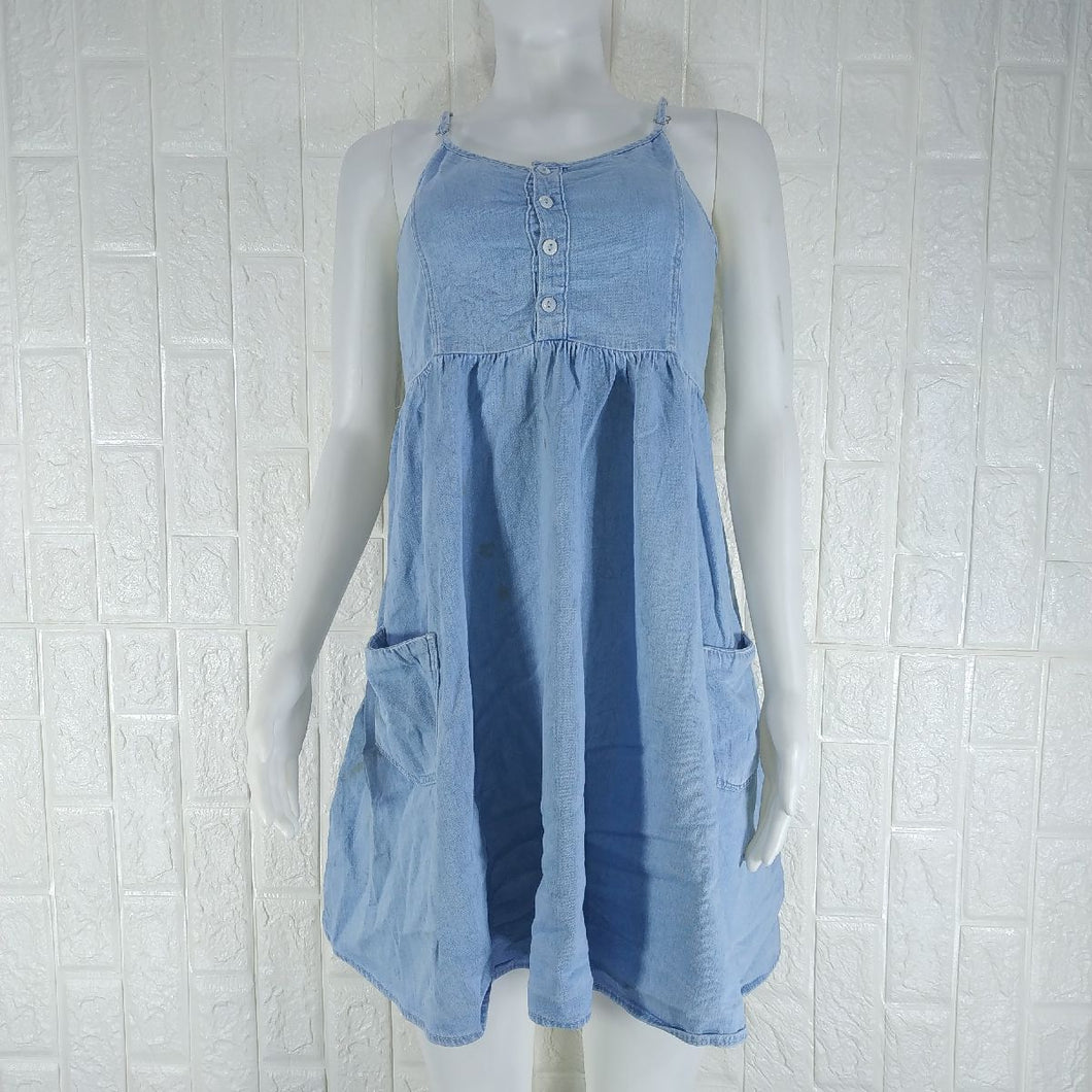 Topshop Spag Denim Dress - okriks-market