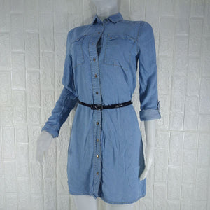 River Island Long Sleeve Denim Dress - okriks-market