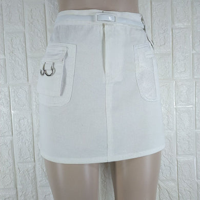 Dnm Sport White Mini Skirt - okriks-market