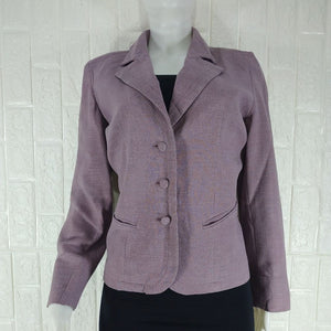 Penny Plain Purple Lined Tailored Office Jacket - okriks-market