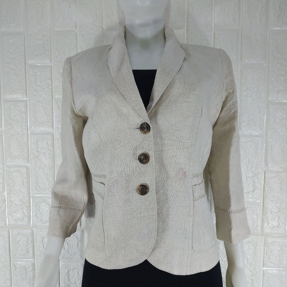 Per Una Linen Lined Tailored Office Jacket - okriks-market