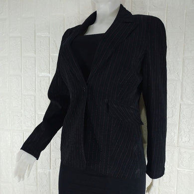Dunnes Stores Stripped Lined Tailored Office Jacket - okriks-market