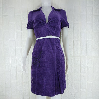St-Martins Purple Corduroy Dress - okriks-market