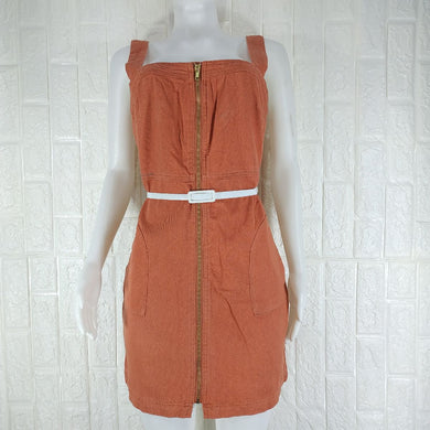 Vila Orange Denim Dress - okriks-market