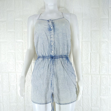Miss S Blue Wash Denim Romper - okriks-market