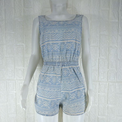 Denim Co Faded Denim Romper - okriks-market