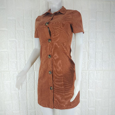 Primark Brown Corduroy Dress - okriks-market