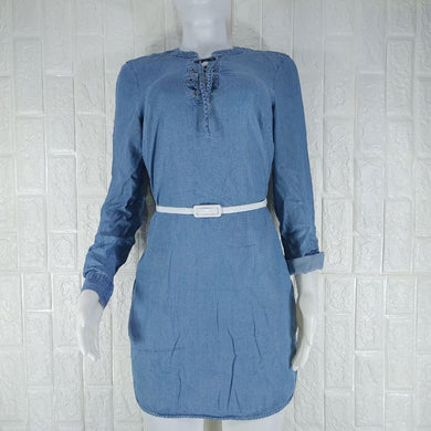 F&F Blue Denim Dress - okriks-market