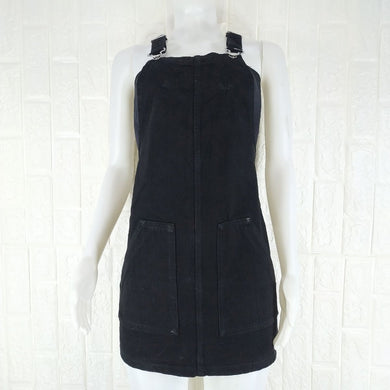 Stradivarius Black Denim Dress - okriks-market