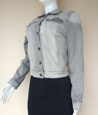 DENIM.CO GREY WASH JEANS JACKET - okriks-market