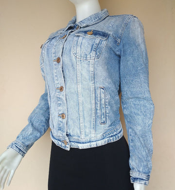 DENIM.CO BLUE WASH JEANS JACKET - okriks-market