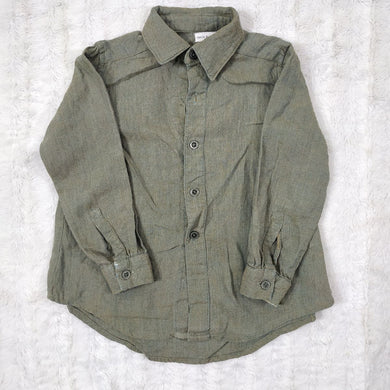 JARED GREEN LINEN SHIRT
