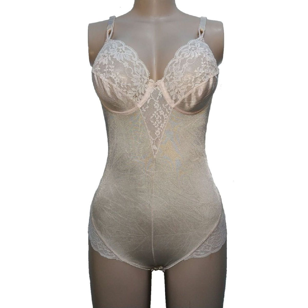 St Michael Pink Stained Underwired Bust Bodysuit - okriks-market
