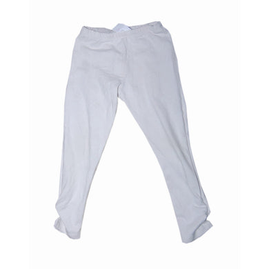 White Baby Girl Leggins With Buttons - okriks-market