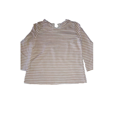 Striped Baby Girl Top With Frills - okriks-market