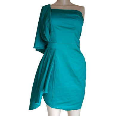 Green One Handed Dress By Oasis - okriks-market