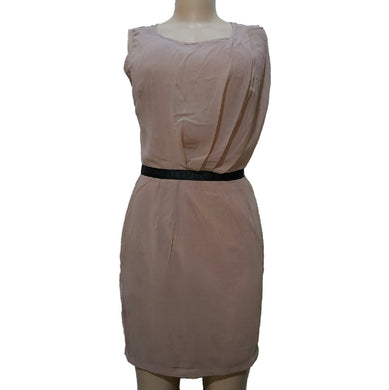 Brown Sleeveless Formal Dress - okriks-market