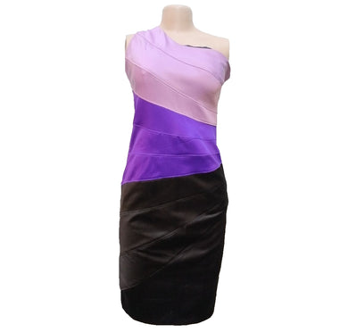 Lilac And Blue One Hand Color Block Dress - okriks-market