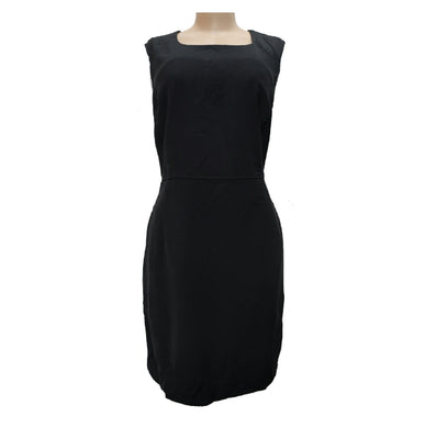 Sleeveless Black Dress With Back Zip - okriks-market