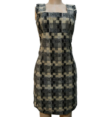 Woolen Houndstooth Sleeveless Dress - okriks-market