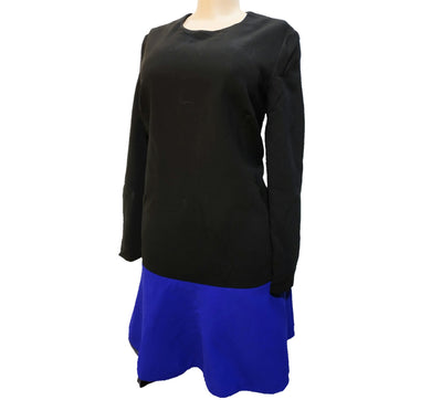 Black and Blue Color Block Dress - okriks-market