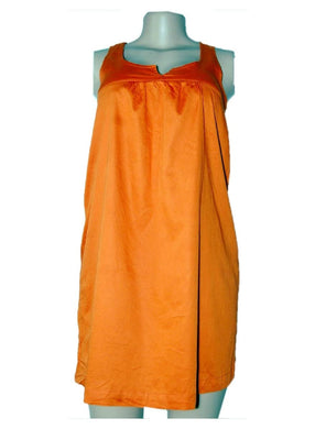Orange Sleeveless Dress By Aggi - okriks-market