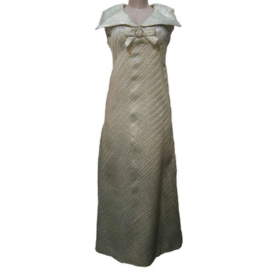 Grade B - Silver Threaded Mother Of The Bride  Dress - okriks-market