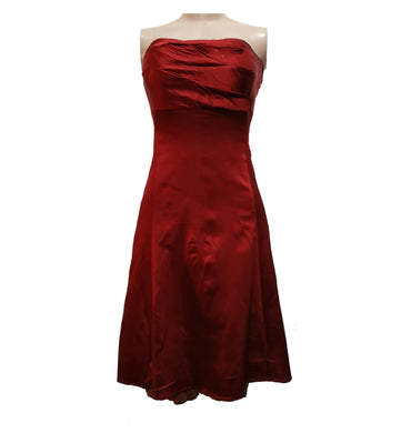 Satin Red Tube Dress By Warehouse - okriks-market