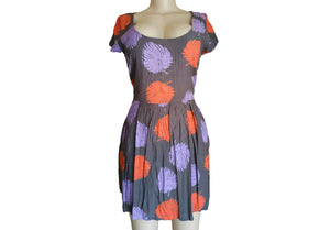 Topshop Print Cotton Skater Dress - okriks-market