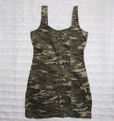 DENIM CO CAMO JEANS DRESS