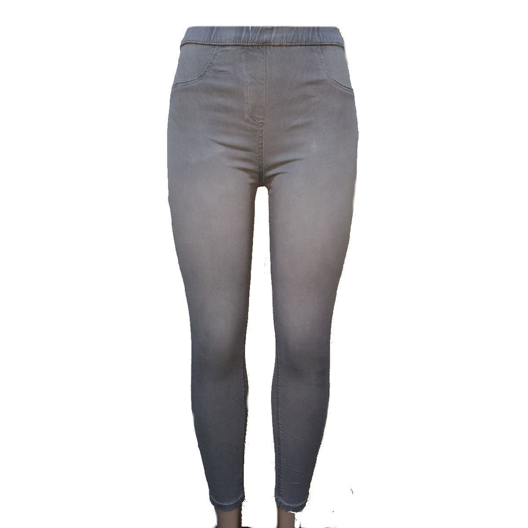 The Rosie Grey Denim Jeggings - okriks-market