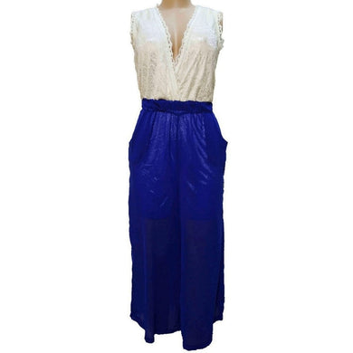 Special Occassion Jumpsuit With Lace And Chiffon - okriks-market