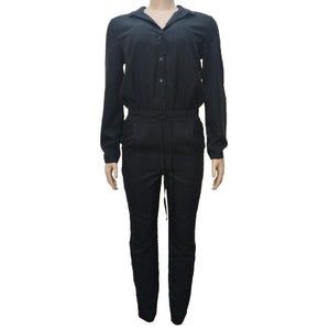 Black Button Down Jumpsuit By Tu - okriks-market