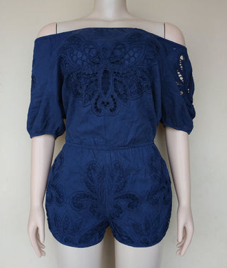 PRELOVED NAVY BLUE ROMPER