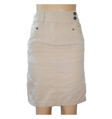 Khaki Skirt With Zip Detail - okriks-market