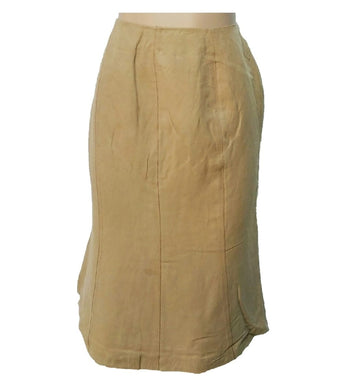 Brown A-Cut Skirt With Thread Design - okriks-market