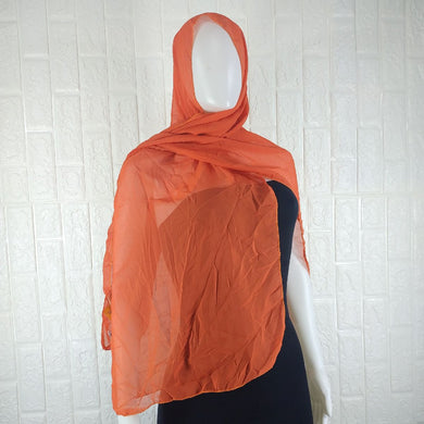 Orange Chiffon Shawl - okriks-market
