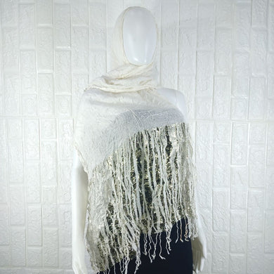 White Cotton Neck Scarf - okriks-market