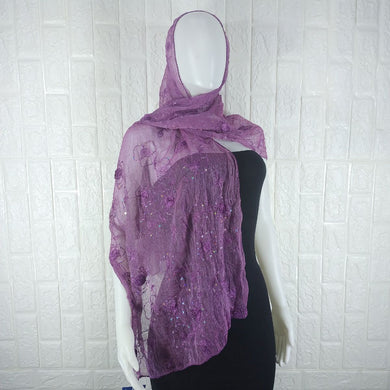 Purple Satin Shawl - okriks-market